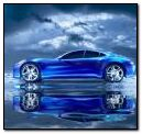 Blue super car