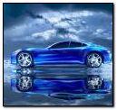 蓝色超级车