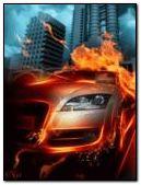Animated burning Audi