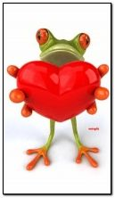 Lustiger Frosch