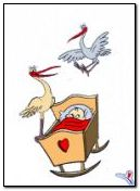 Stork Baby Cradle