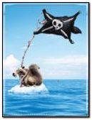 Scrat and pirate flag