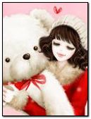 girl and bear doll