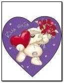 teddy in heart