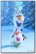 manusia salju yang lucu