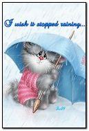 I wish it stopped raining