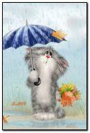 Saya mahu daun itu. tetapi saya tidak boleh mendapatkan payung saya!