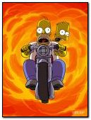 homer & bart riding