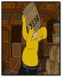 Homer Drinks Beer