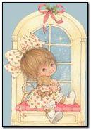 طفلة في نافذة