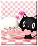 White cat & Black cat