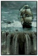 沈みかけている船