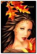 Autumn fantasy girl
