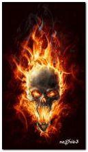 जलती हुई खोपड़ी