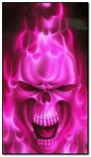 рожевий череп