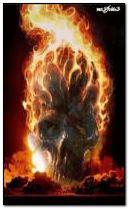 tengkorak terbakar