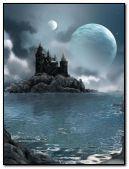 Castle & moon