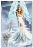 Angel with wolf