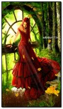 фантазія дівчина і листя