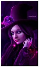 Beautiful witch with owl