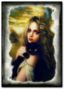 fantasy girl with cat