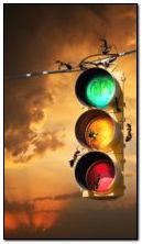animated traffic light