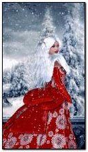 Fantasy snow girl