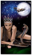 Cô gái với rắn