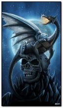 Dragon and skull