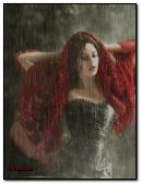 Fantasy Girl in Rain