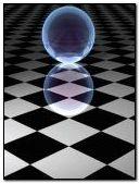 checkered ball