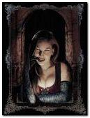 Cuadro de una mujer vampiro