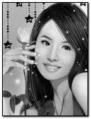 cute kawaii black & white