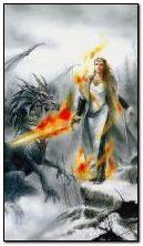 Drachen Krieger Mädchen