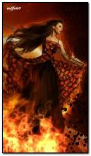 lady in fire