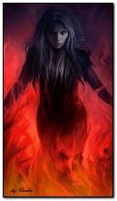 Злобная девушка-фэнтези