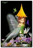 Fairy with umbrella