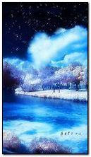 ngôi sao hoạt hình của hồ và bầu trời
