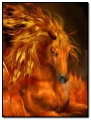FANTASY FIRE UNICORN