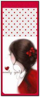 Red Bow lovely Girl