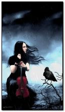 with a crow