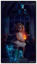 Hüzünlü gözleri ve hayalet kedi kız
