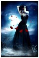 Dark girl with butterflies