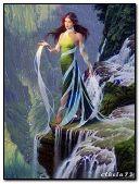 Girl - waterfalls