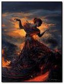 femme volcan