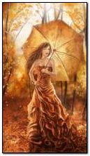 فتاة في الخريف