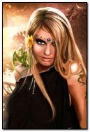 Cô gái tóc vàng với rồng