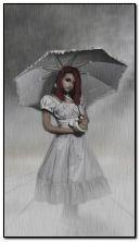 fantasy girl with umbrella