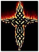 Tribal on flame