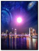 City & universe scenery